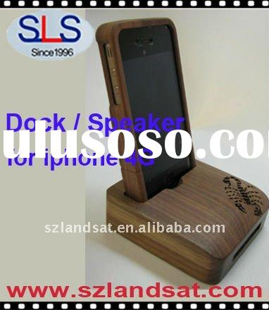 Hot sale Bamboo speaker for iphone, bamboo docking for iphone 4G, SLS-BS90