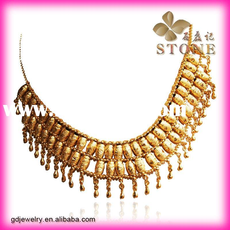 Hot sale charm 24k gold necklace