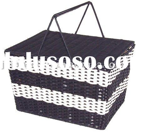 Large Plastic Laundry Basket with Lid