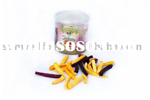 Low temperature Vacuum Fried Mixed Sweet Potato Chips(healthy snacks)