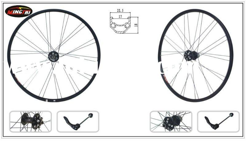 "MINGTAI MTSC17 Bicycle Bike Alloy Rim Wheels 26""x1.75inch 28H Black Printing 6061-T6 Aluminum"
