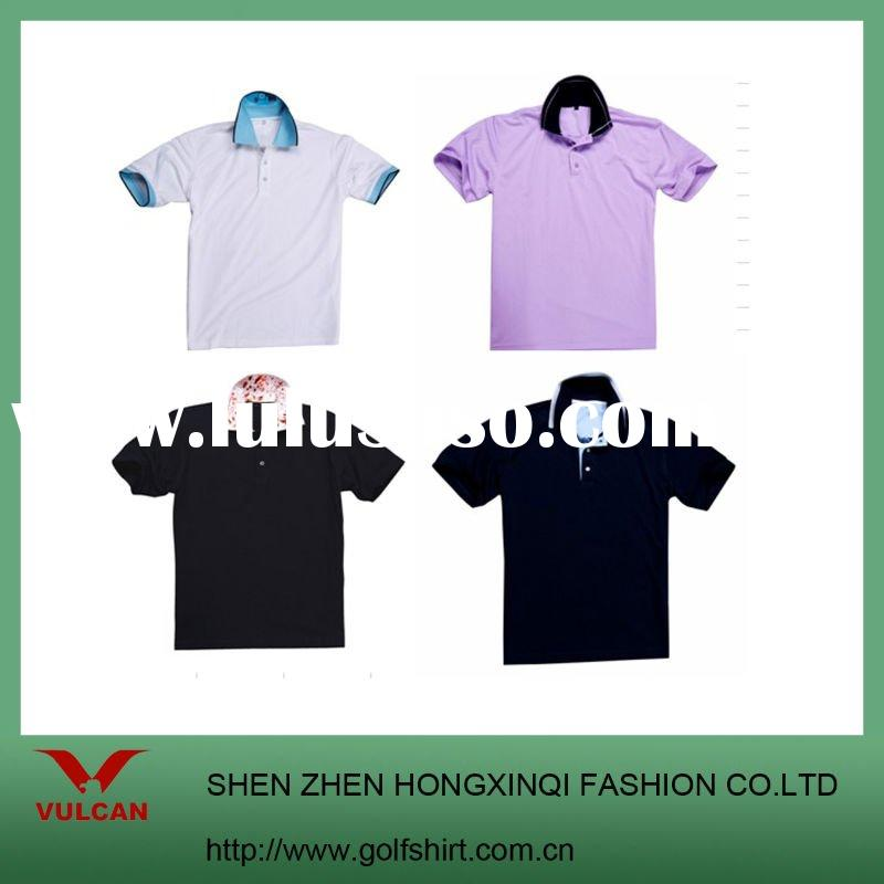 Men's Long Sleeve Fashion Golf POLO shirt Bamboo Material with Spandex