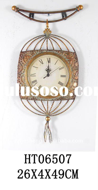 Metal decorative antique and craft wall clock