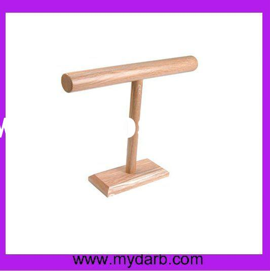 Mydarb- Bracelet T-BAR jewelry display wooden stand