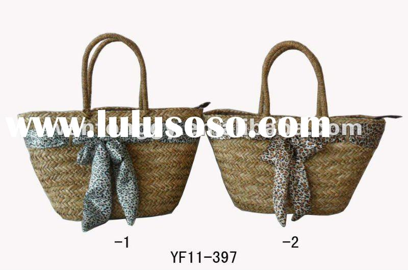 NATURAL SEA GRASS STRAW BEACH BAG