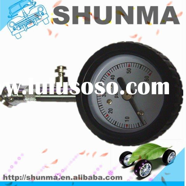 "New 1.5"" 360 deg rotating bike tire air pressure gauges, dial gauge, with rubber casing and pre"