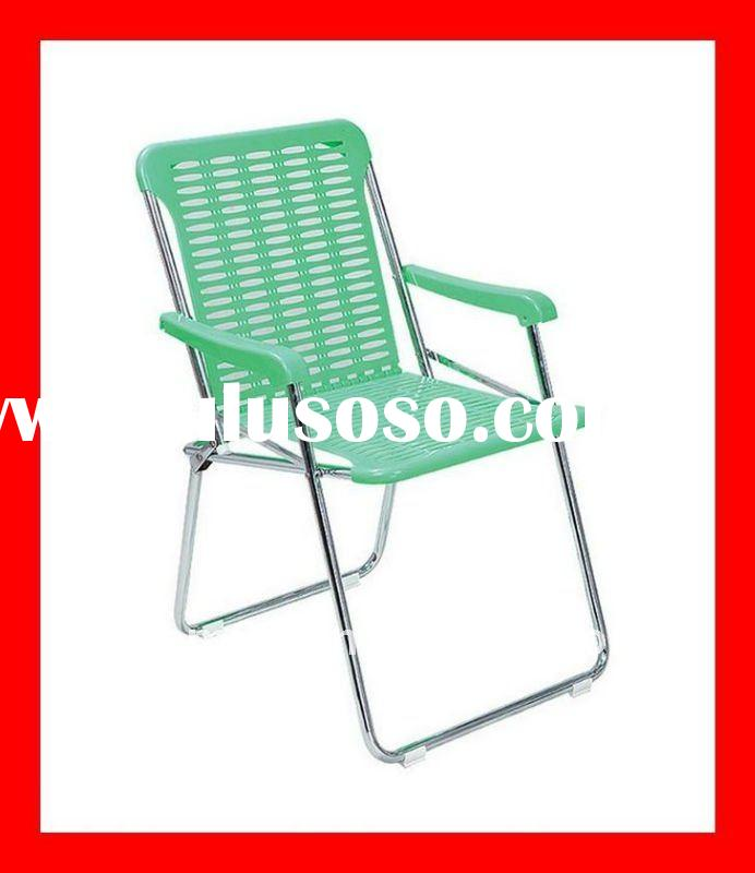 Outdoor folding/foldable plastic beach/lawn chair