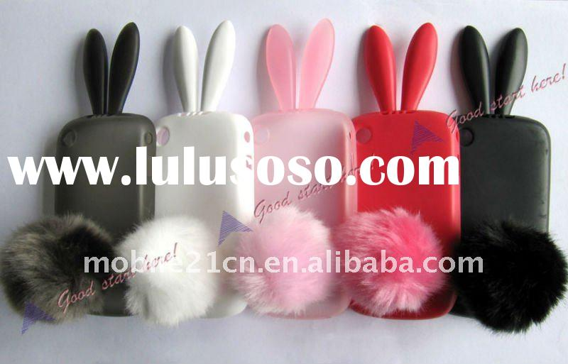 Popular Rabbit Silicone Protector Case Cover For Blackberry Curve 8520 9300