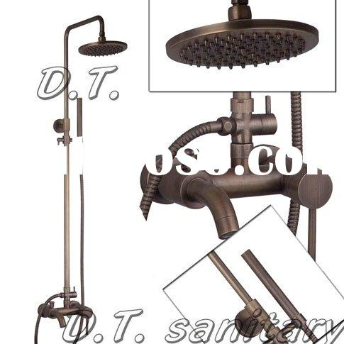 SYY-SS005 Classic Style Antique Brass Wall Mounted Rain Shower Faucet Set