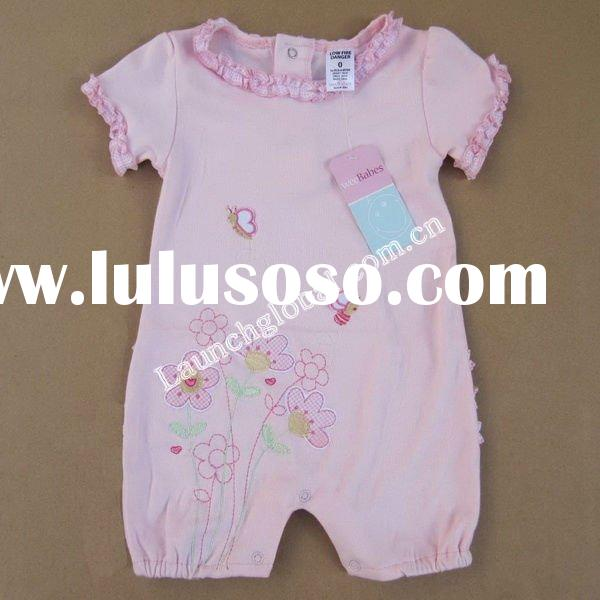 Stock Baby Embroidery and Lace Clothes, Baby Romper