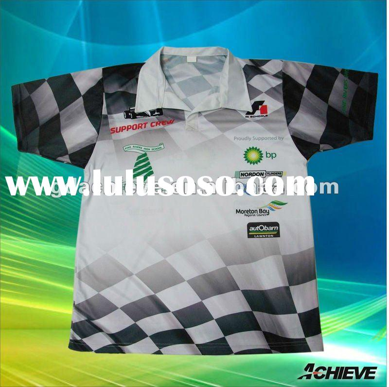 Sublimation custom Men's short sleeve polo shirts