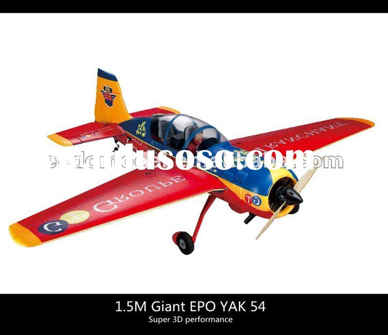 Super 3D RC airplane model! 1.5M Giant YAK 54 electric RTF rc hobby