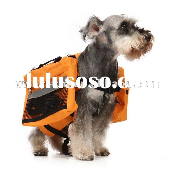 UW-PBP-027 Large size outdoor traveling orange oxford dog carrier,dog backpack,dog travel bag