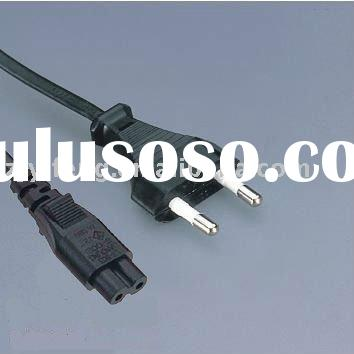 VDE ac power cord European flat plug
