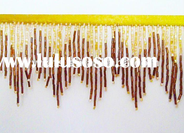 beaded tassel fringe for clothing home curtain textile decoration