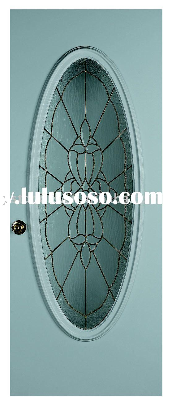 big oval glass door,interior glass doors,wooden edge glass doors,glass metal door,steel entry door