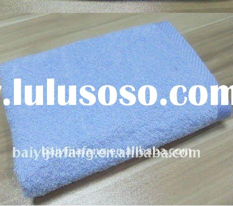 blue terry spa towel plain dyed