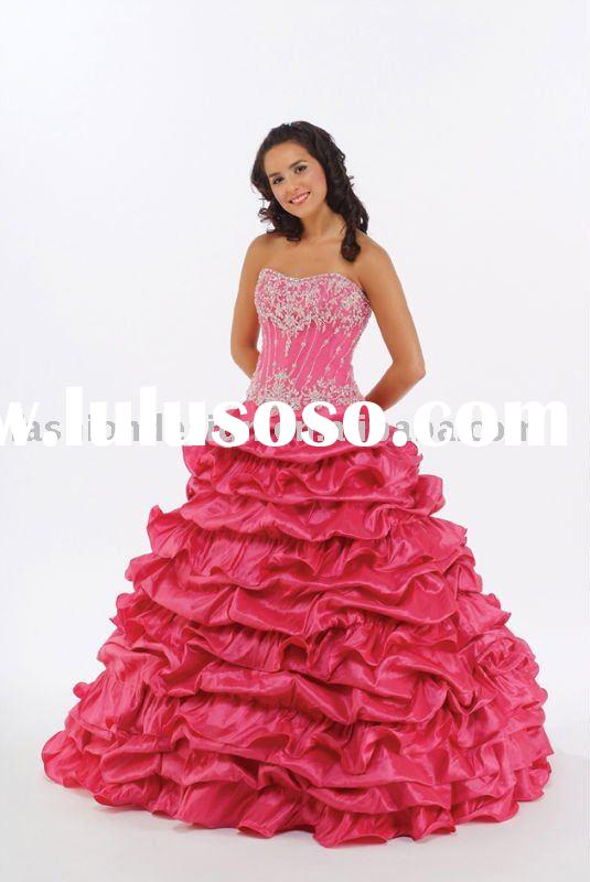 charming!!unique beaded crystals Quinceanera Ball gowns,bridesmaid prom dresses QB082