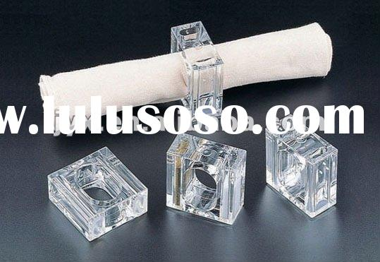 clear acrylic wholesale napkin rings