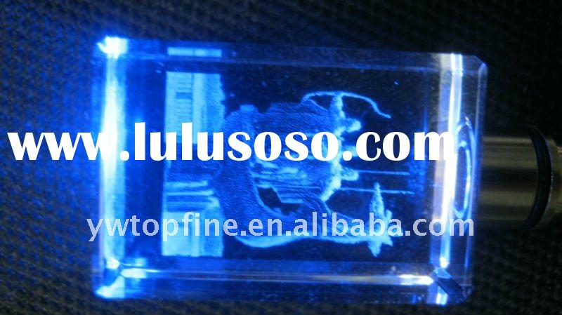cooperate promotion gifts crystal led keychain