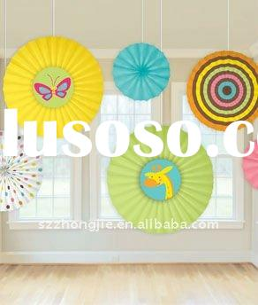decorative paper fan for home