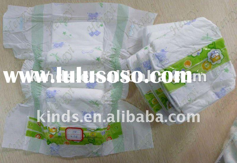 elastic waistband printed disposable cheap waterproof adult baby diaper in xia men with wetness indi