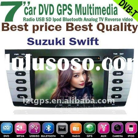in car audio dvd GPS player for Suzuki Swift bluetooth,DVB-T TV,radio,ipod,steering wheel conrol,pow