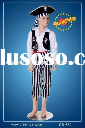 kids pirate costume/party costume/carnival costume