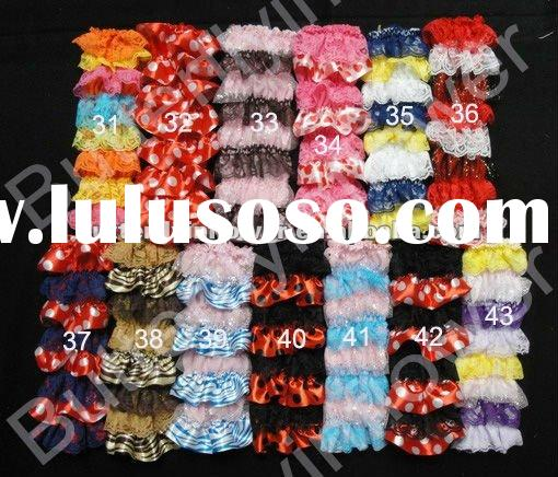 lace and satin newborn legwarmers wholesale baby leg warmers