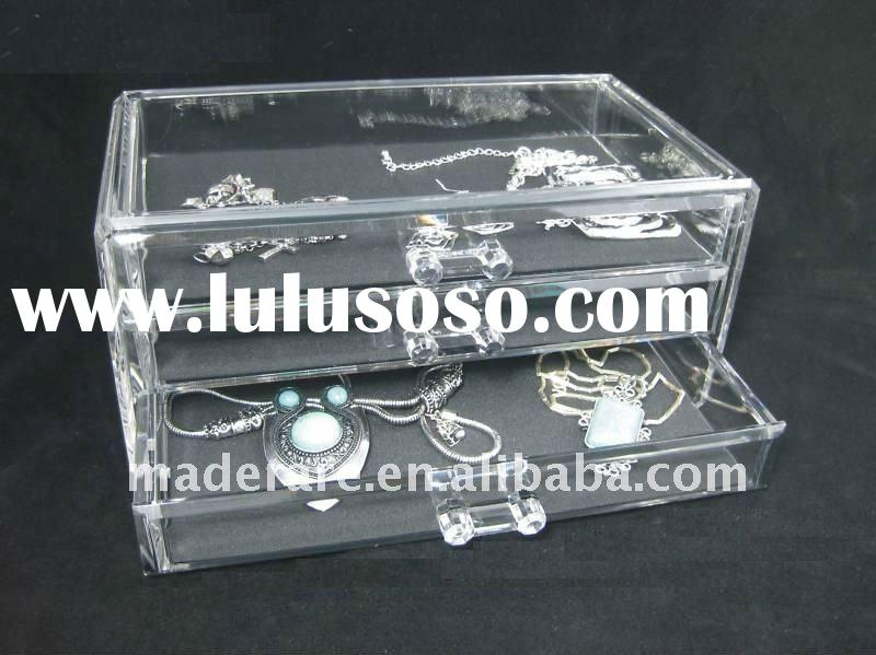 luxury 4 drawer clear acrylic makeup organizer,clear acrylic cosmetic display