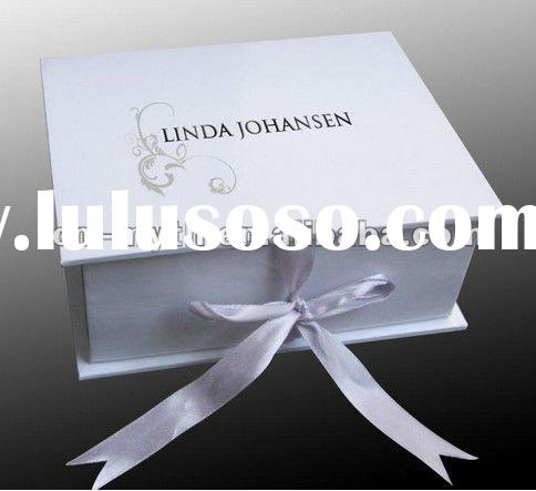 new products for 2012 folding paper cd storage box gift paper box