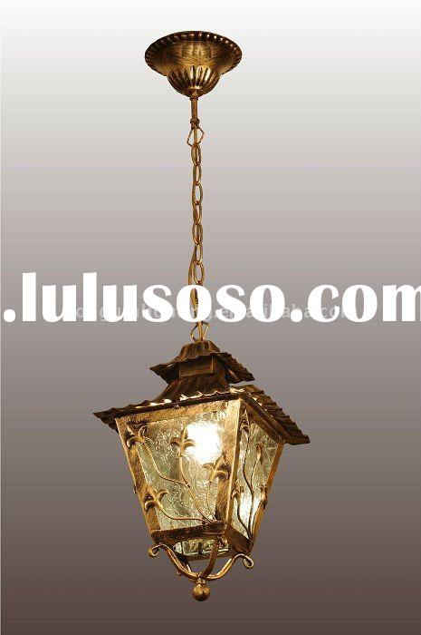 outdoor iron art pendant lamp 8274-1H with best price quality