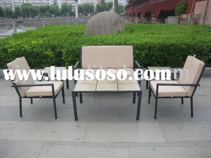 outdoor treasures 6-pc ceramic tile tabletop patio furniture set