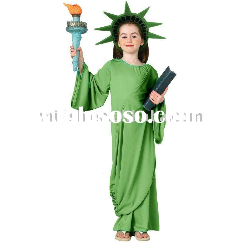 party children kids Statue of Liberty fancy dress costumes MAC-0314