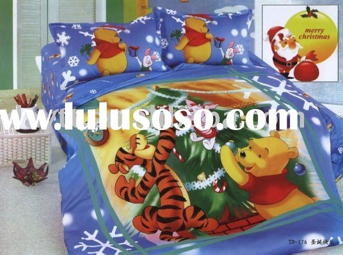 power seller +Winnie the pooh of Merry Christmas Single Bedding set for kid A497 on sale wholesale &