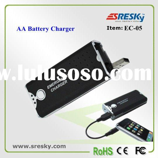 rechargeable LED flashlights with AA battery mobile charger