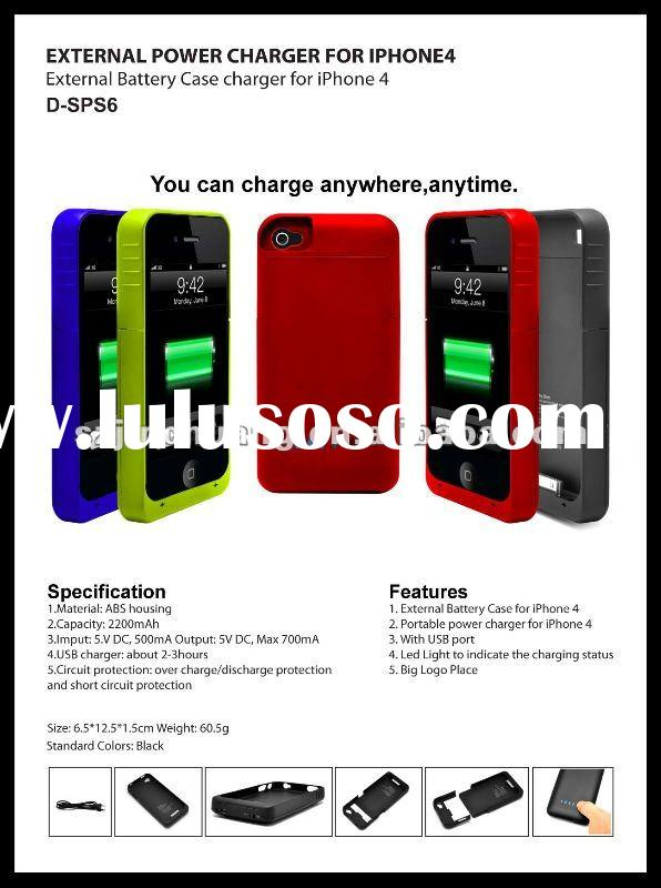 solar mobile charger case with 2200mAh battery for Apple's iPhone