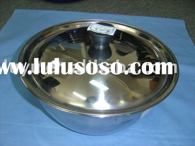 stainless steel soup dish and plate with cover
