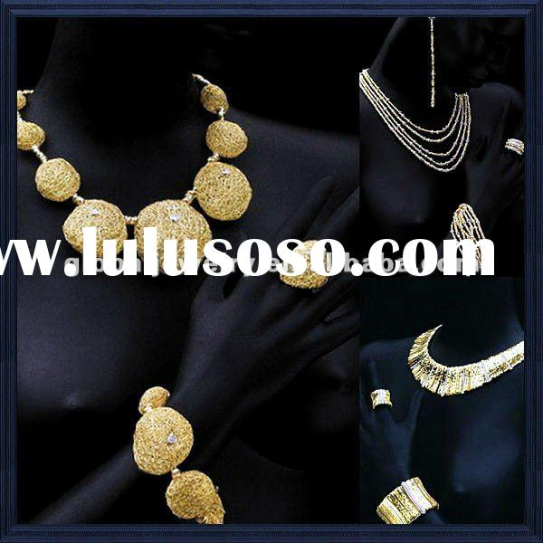 stunning & fashion necklace set gold necklace gold plated jewelry