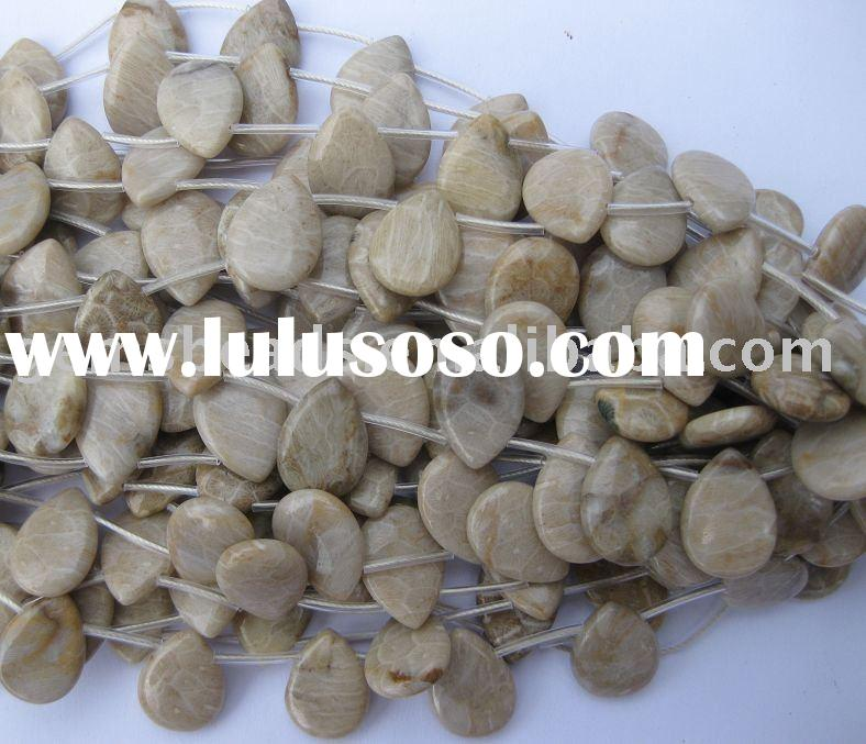wholesale coral fossil semi precious gemstone loose beads