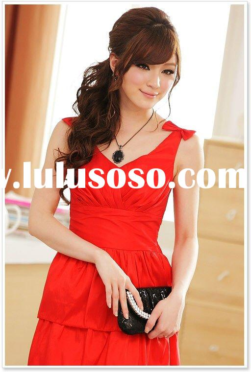 women sleeveless fashion clothes dress