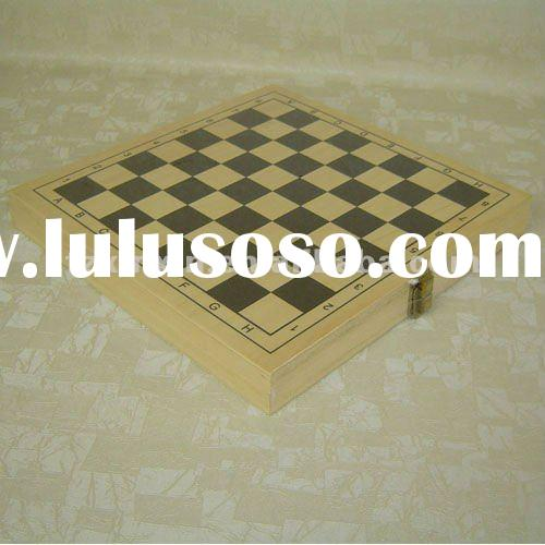 wooden 5 in 1 game set chess checker backgammon ludo 8852