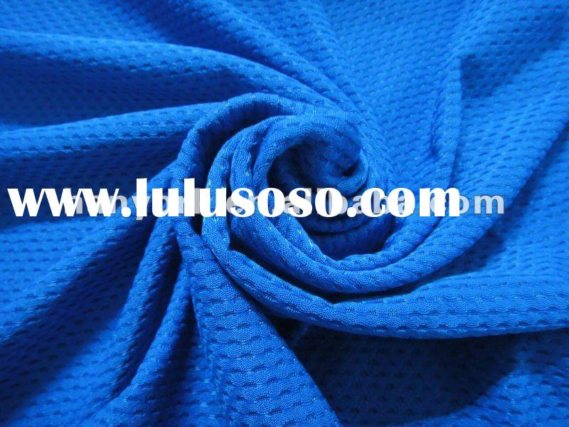 100% Polyester High Quality Soft Stripe Jersey Knit Mesh Clothing Fabric
