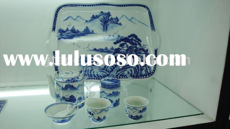 11pcs fine blue and white porcelain tea set ,good ceramic tableware,Chinese royal porcelain dinnerwa