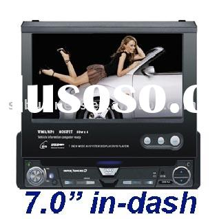 1 DIN mounting dimension 7.0 inch touch-screen DVD player RADIO tuner with R.D.S function