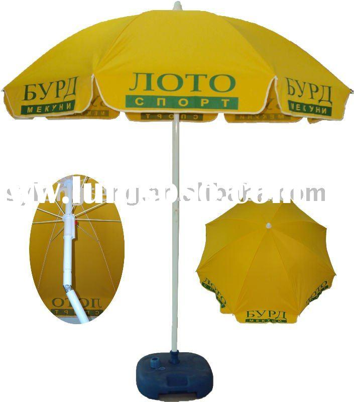 200cm diameter 160G polyester outdoor beach umbrella with logo print for advertising promotion