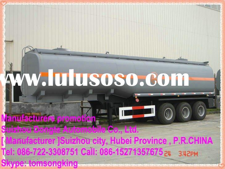 2010 DTA 2/3 Axle plastic- lined steel chemical liquid tank semi trailer,semi-trailer for HCL, NaOH