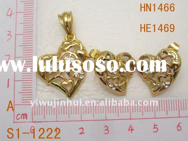2011 18k gp gold plated fashion jewelry sets