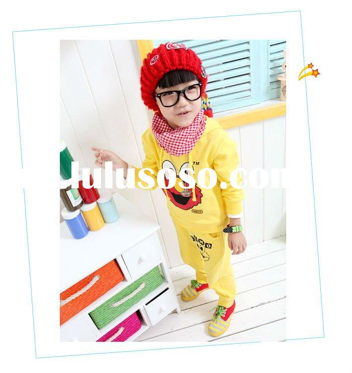 2011 new design lovely printing children's clothing set children wear