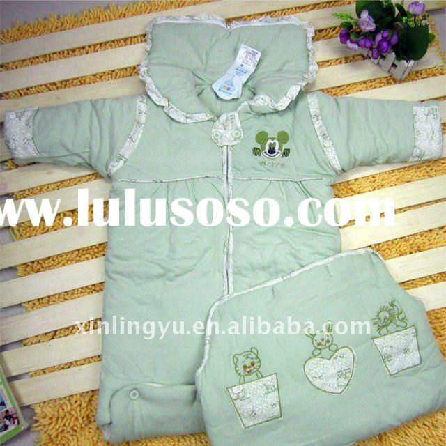 2011 new style velvet warm baby sleeping bag for toddlers,comfortable and discount infant winter sle